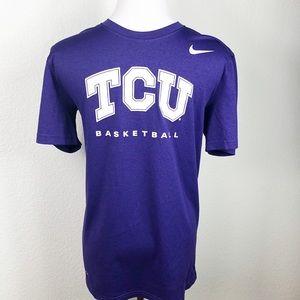 Nike TCU basketball T-shirt in purple. Size M